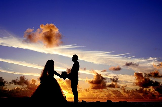 sunset wedding proposal